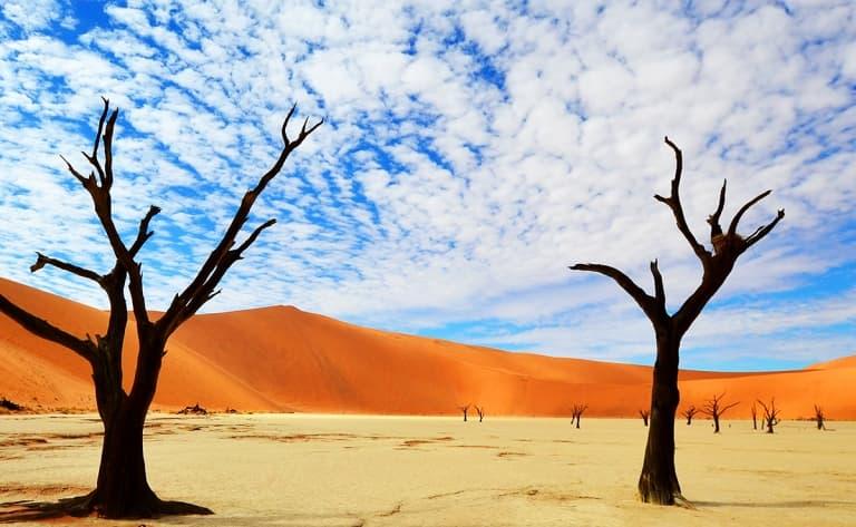 Spectaculaires dunes rougeoyantes de Sossusvlei (150km)