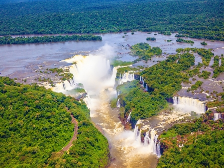 Iguazu, le survol des chutes en hélicoptère