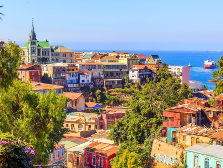 Valparaiso et ses maisons colorées
