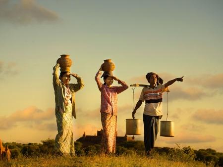 Vie locale à Bagan