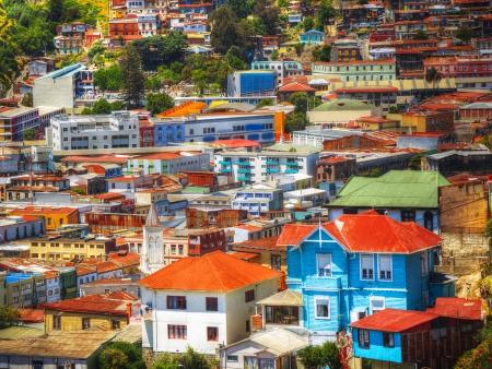 La ville colorée de Valparaiso