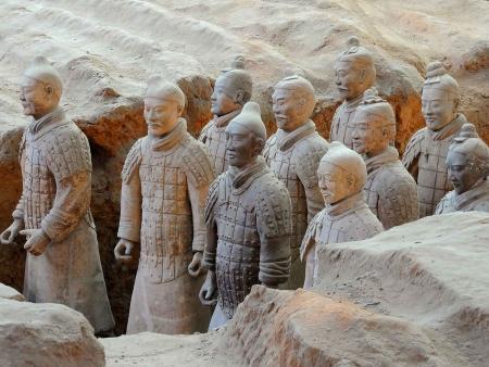 Célèbre armée de soldats en terre cuite de Xian