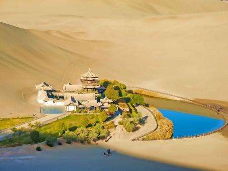 Dunhuang, une oasis dans le désert de Gobi