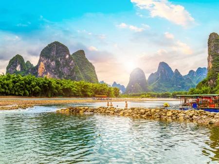 Croisière en bateau sur la rivière Li