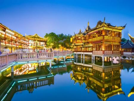 Jardin Yu et balade dans la vieille ville