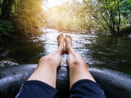 Descente de rivière en bouée