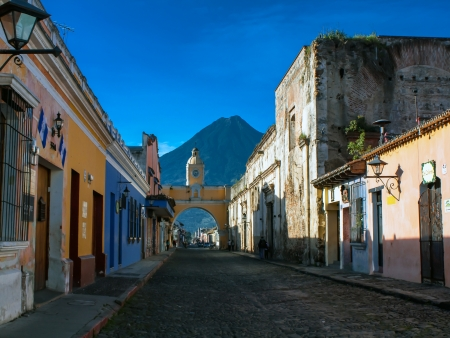 Antigua et ses rues colorées