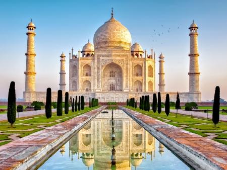 Taj Mahal, époustouflant bijou de marbre blanc