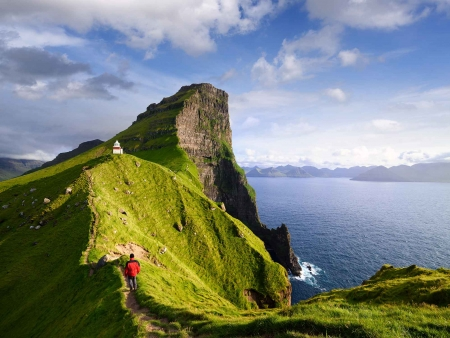 Randonnée sur l'île de Kalsoy