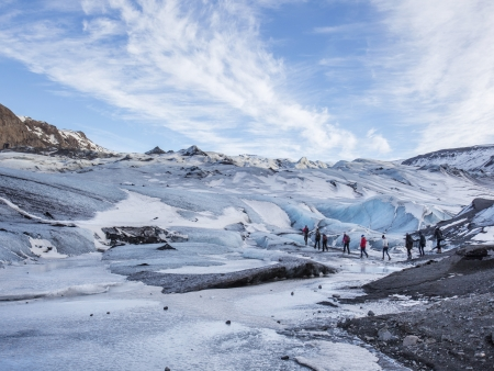 A l'assaut du glacier !