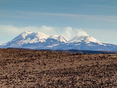 Les volcans de la réserve de Salinas y Aguada Blanca