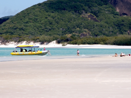 Sur le sable de Whitehaven Beach