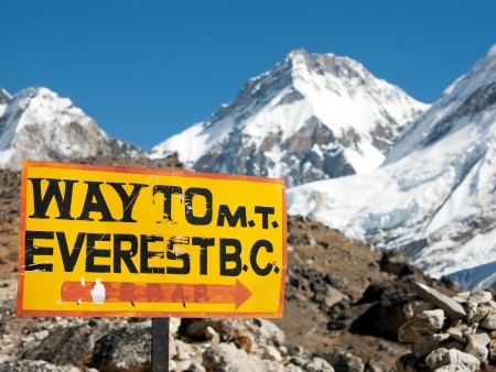 Au pied de l'Everest : Everest base camp !