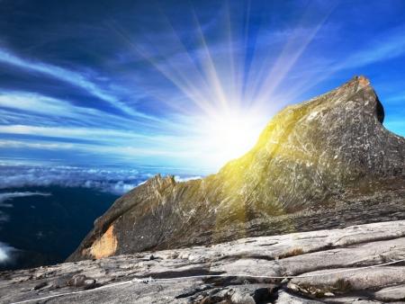 Au sommet, à 4095 mètres au dessus des nuages…