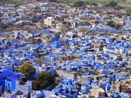 La ville 'bleue'