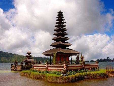 Temple Ulun Danu, marché de Bedugul
