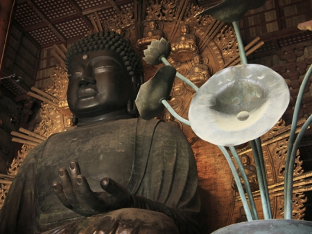 Nara and its bronze Buddha, the biggest in Japan