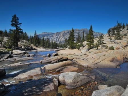 Route vers le célèbre Yosemite National Park