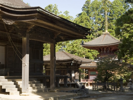 Visit the most important and most iconic temples on Mount Koya: Kondo and Kongobuji