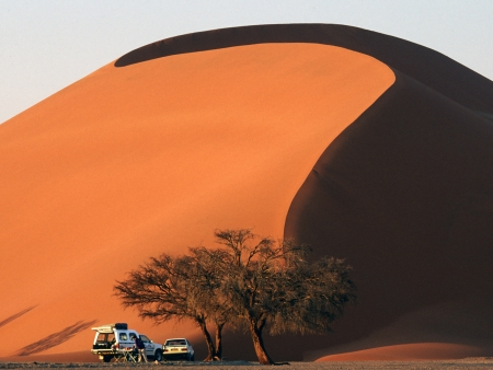 Dunes rougeoyantes