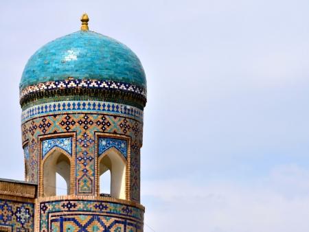 Route vers la capitale de l'Ouzbékistan